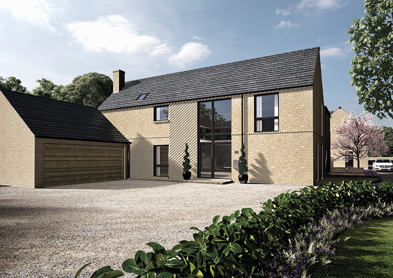 The driveway and garage of one of our Hill Farm developments in Dullingham
