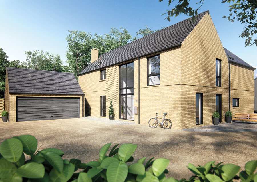 An outside look at our Hill Farm development in Dullingham