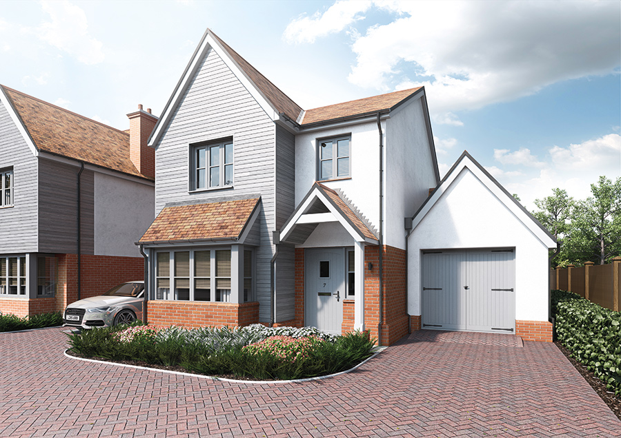 A front on look at the driveway and one of our properties from our Woodland Rise development